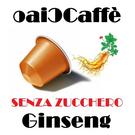 UNSWEETENED Ginseng 50 Capsules Compatible Nespresso