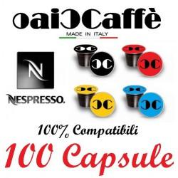 100 Capsules Compatible Nespresso