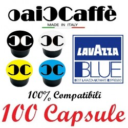 100 Capsules Compatible Lavazza Blue