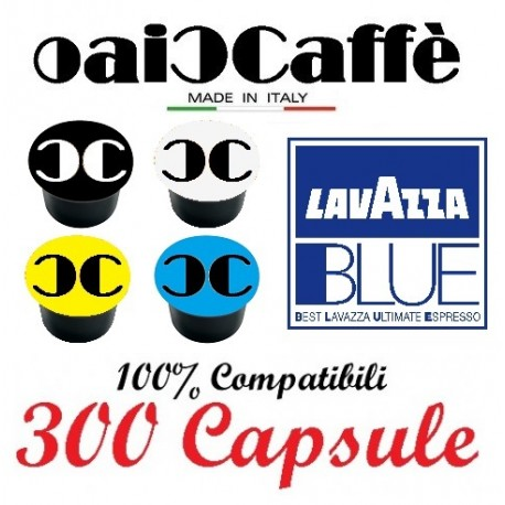 300 Capsules Compatible Lavazza Blue